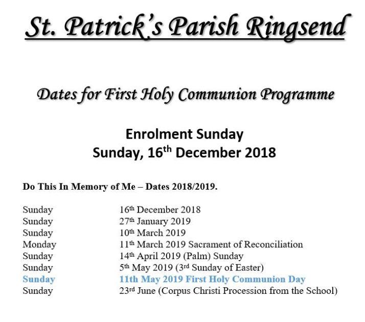 1st holy communion 2019